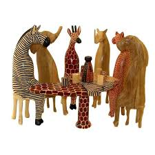 animals at table